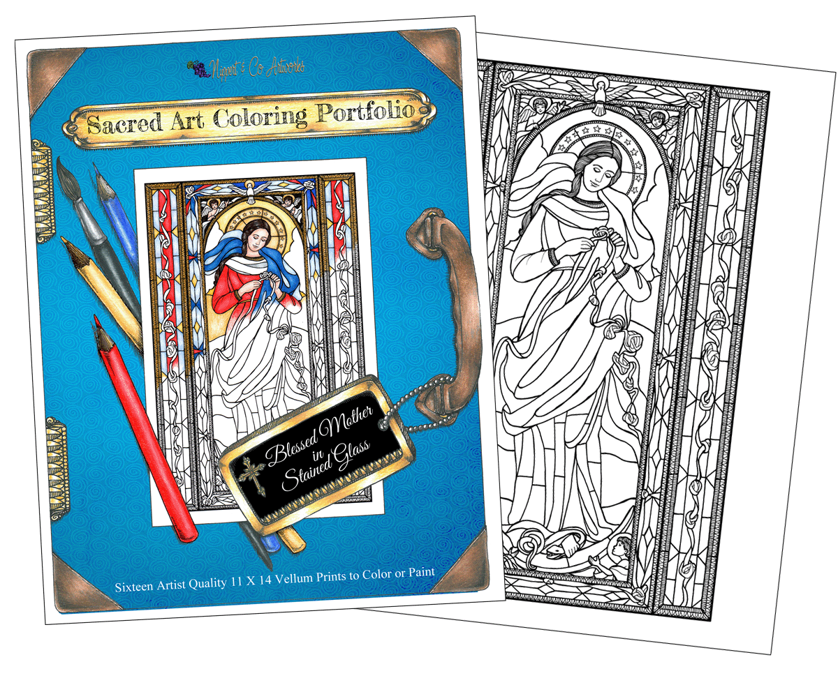 Wholesale Blessed Mother Coloring Portfolio
