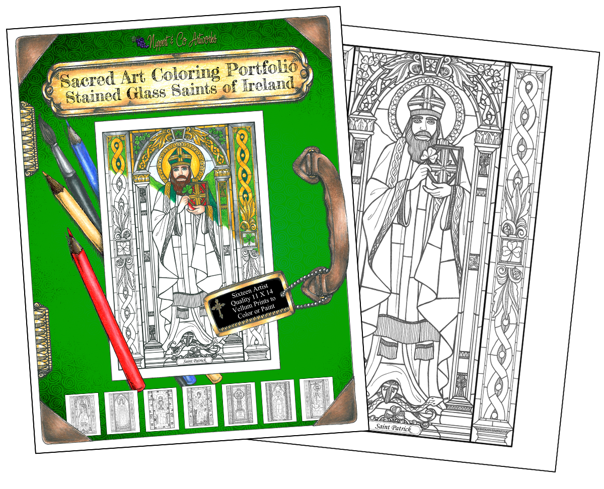 Irish Saints Coloring Portfolio