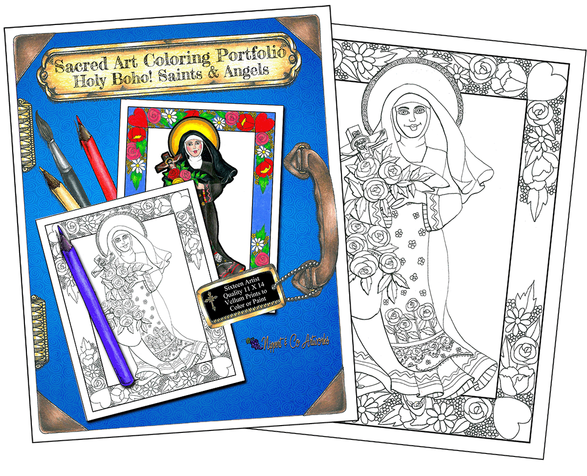 A Holy Boho! Saints and Angels Coloring Portfolio