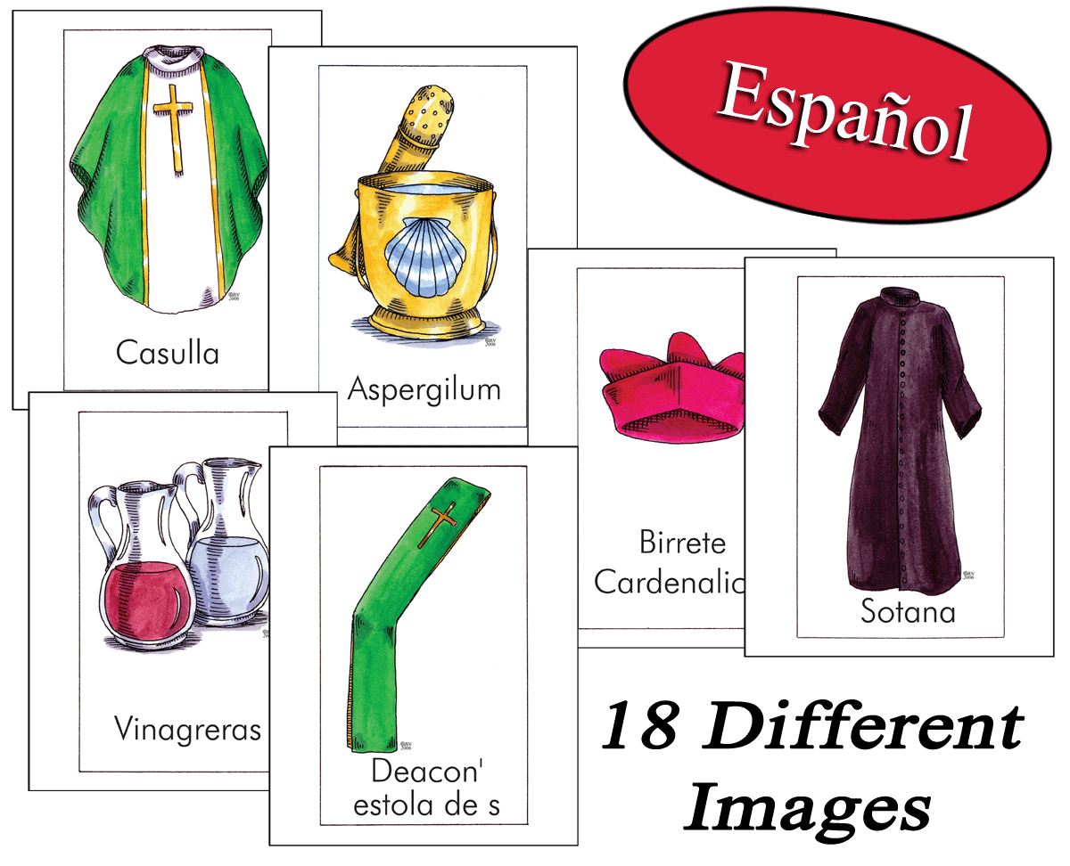 Spanish - Vessels & Vestments Classroom Cards
