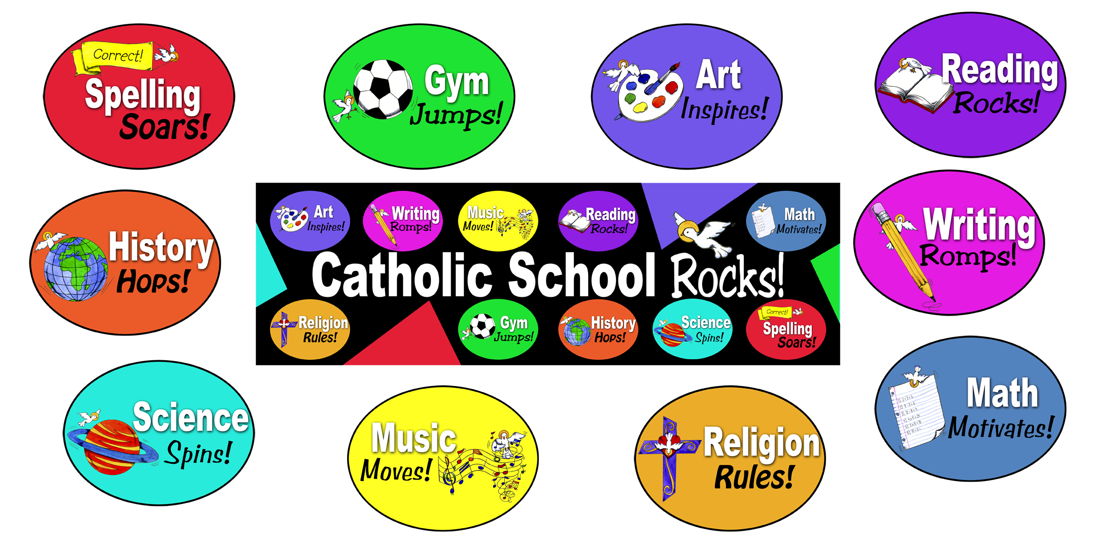 School Subjects Banner Kit