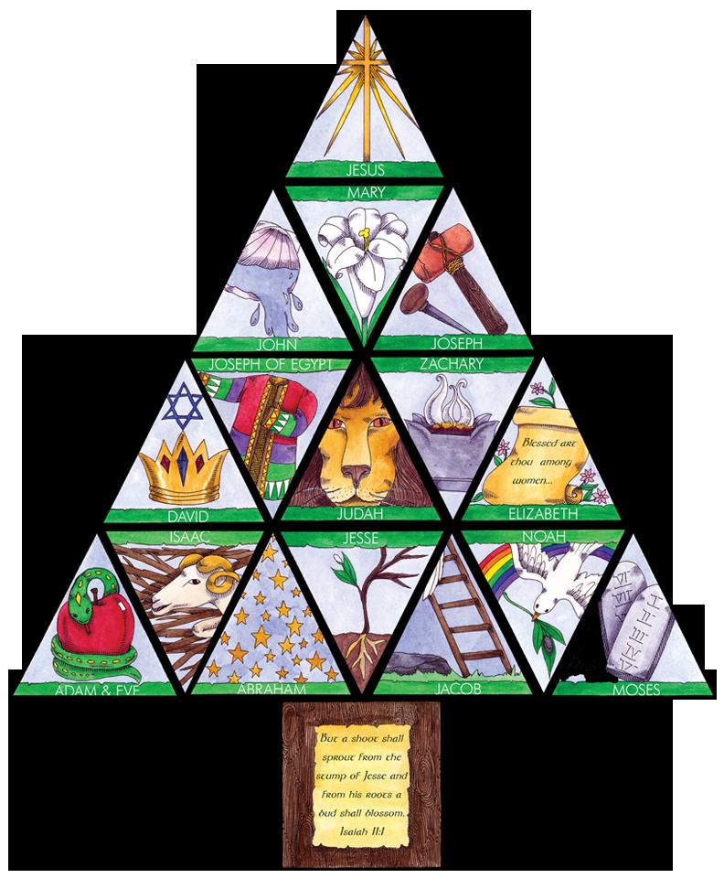 jesse tree symbols coloring pages - photo#32
