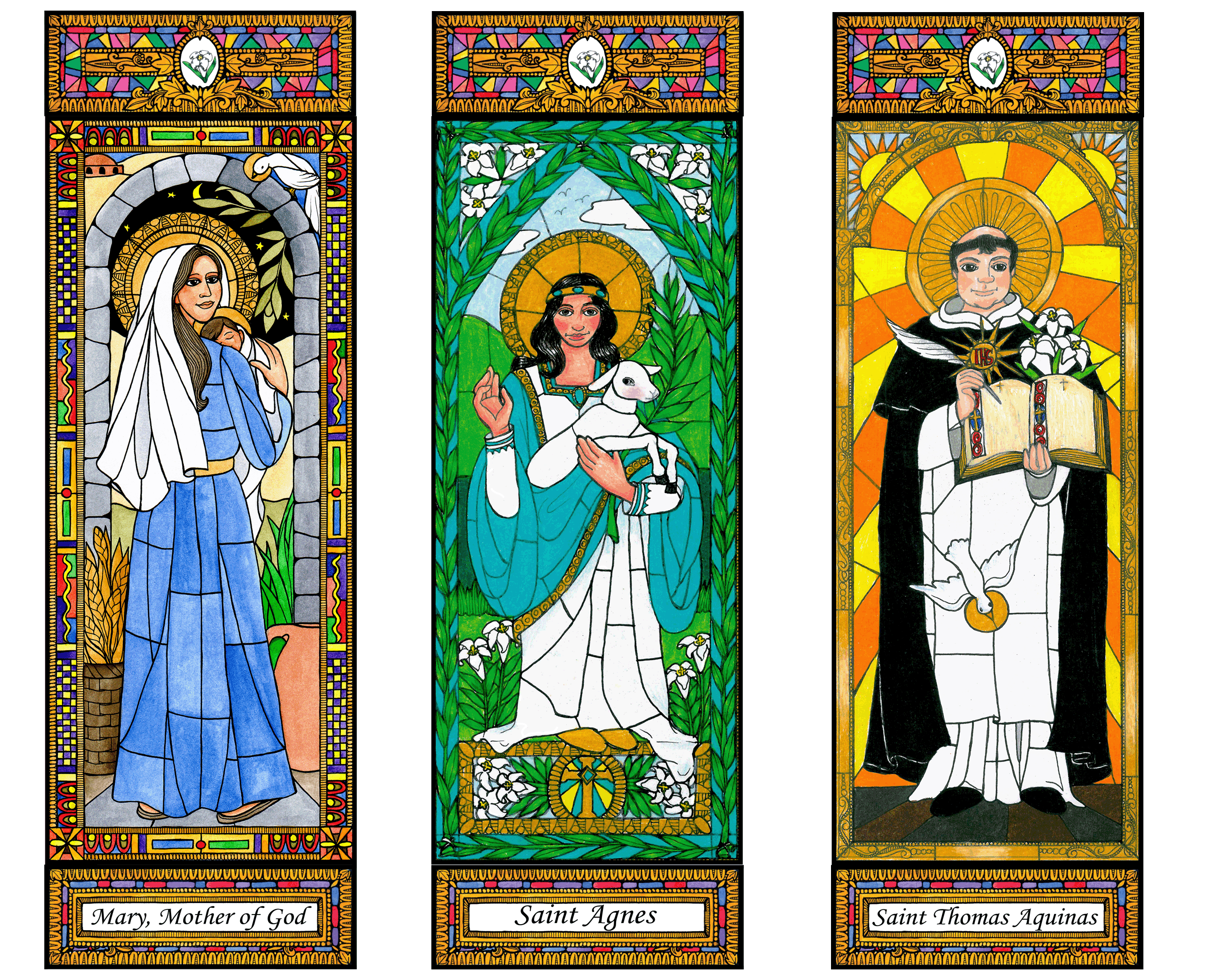 Stained Glass Saints of January