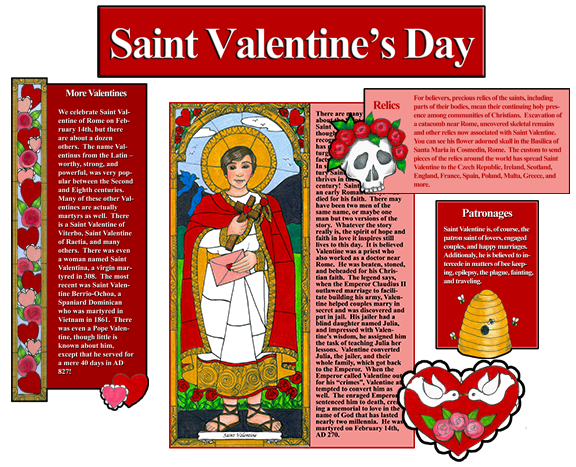 Stained Glass Saints of February