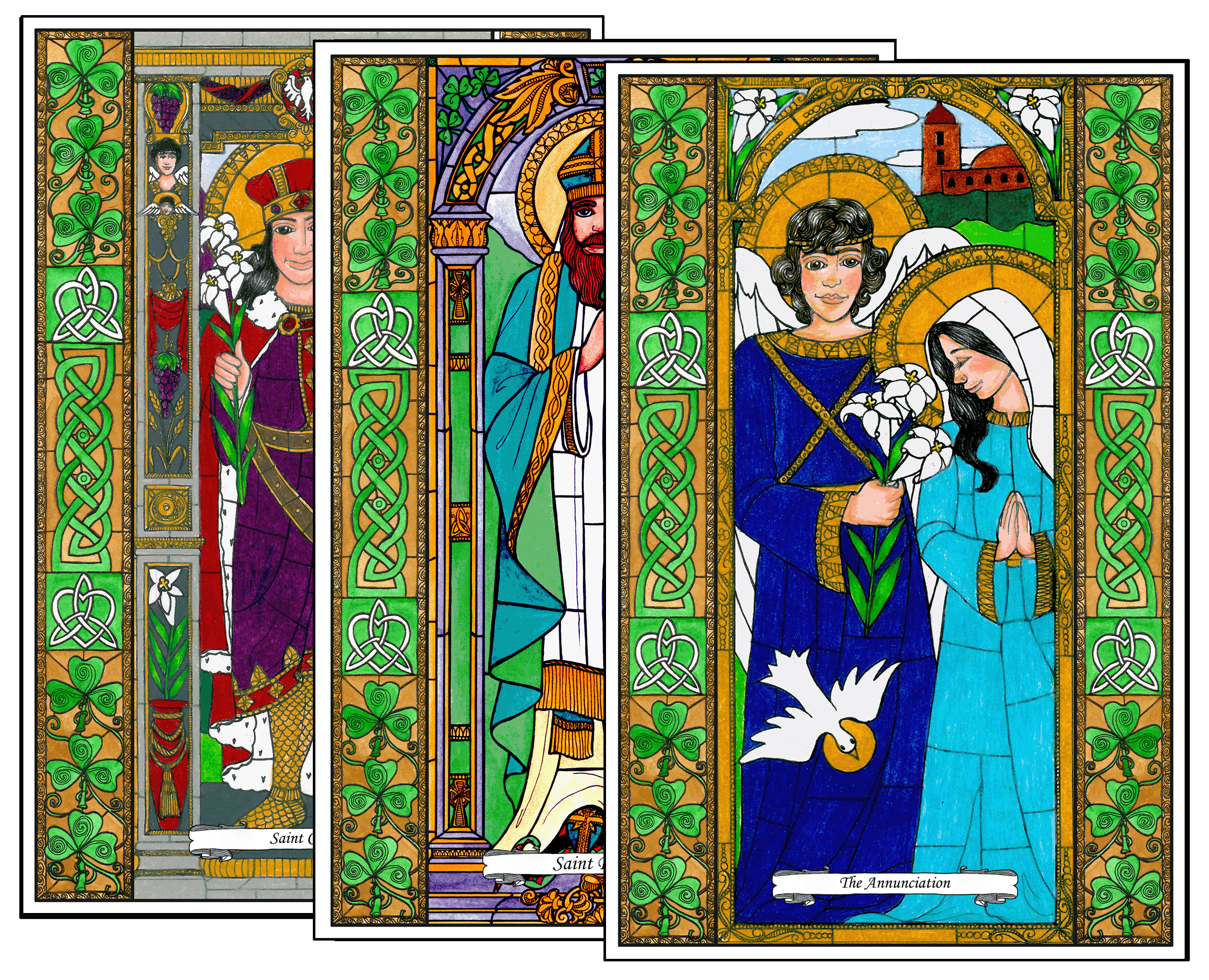 Stained Glass Saints of March