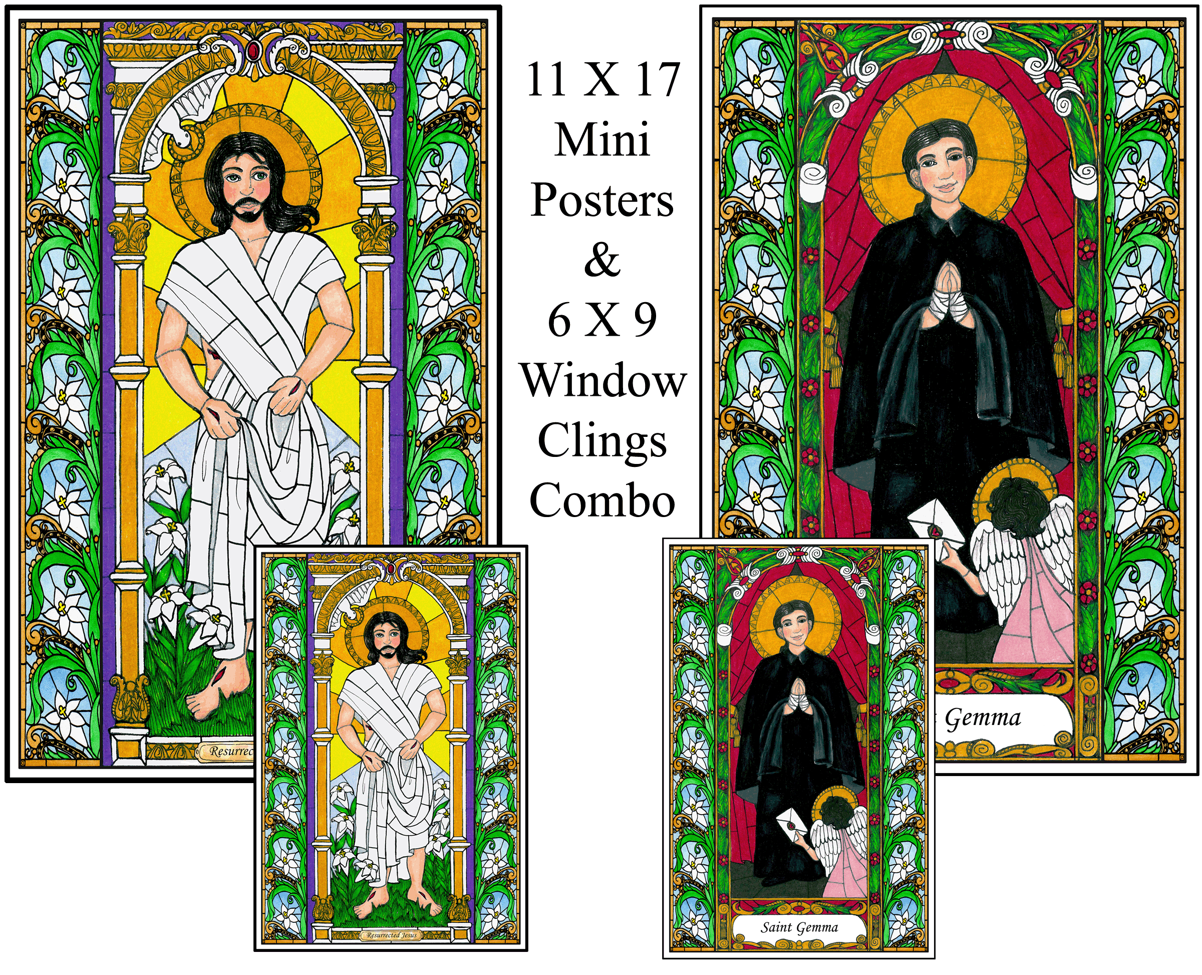 Stained Glass Saints of March Combo Set