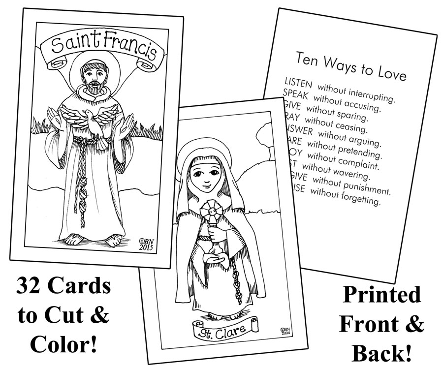 Cut & Color Holy Cards