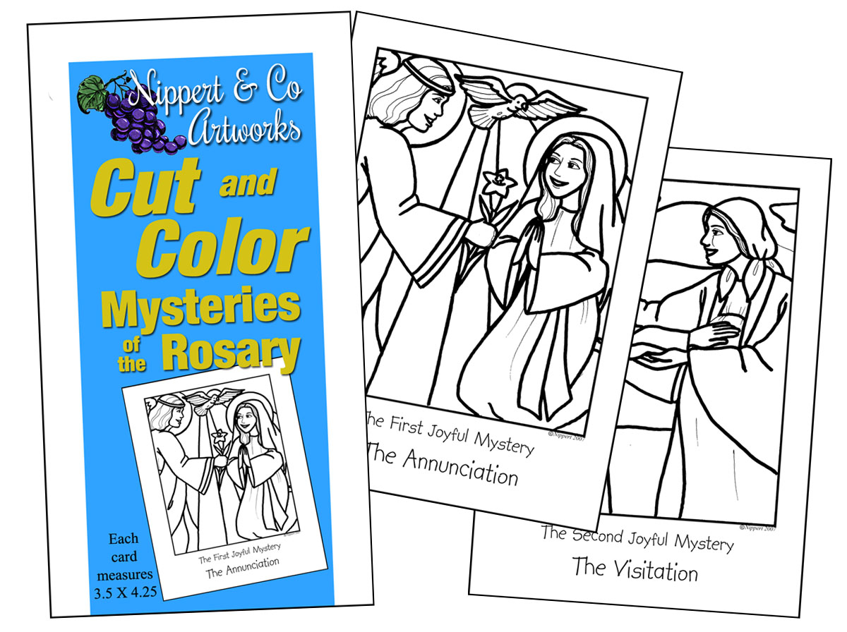 Cut & Color Mysteries of the Rosary